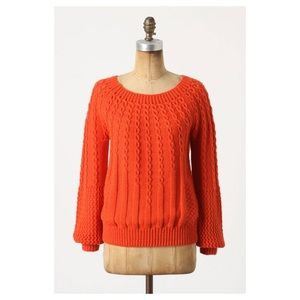 ANTHROPOLOGIE Guinevere Purl-Wise Pullover Sweater